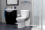 Saniplus Pump with White Round Toilet